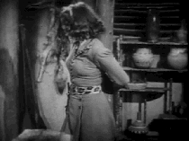 Jungle Girl funny moment from retro movie 1941 year gif animation