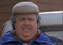 Freezing funny gif meme from Planes Trains and Automobiles movie gif animation