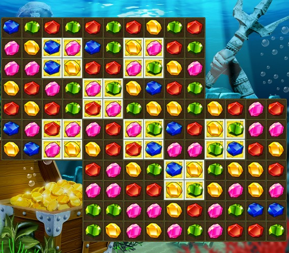 Atlantis Jewels 3 match puzzle color gems game image play free