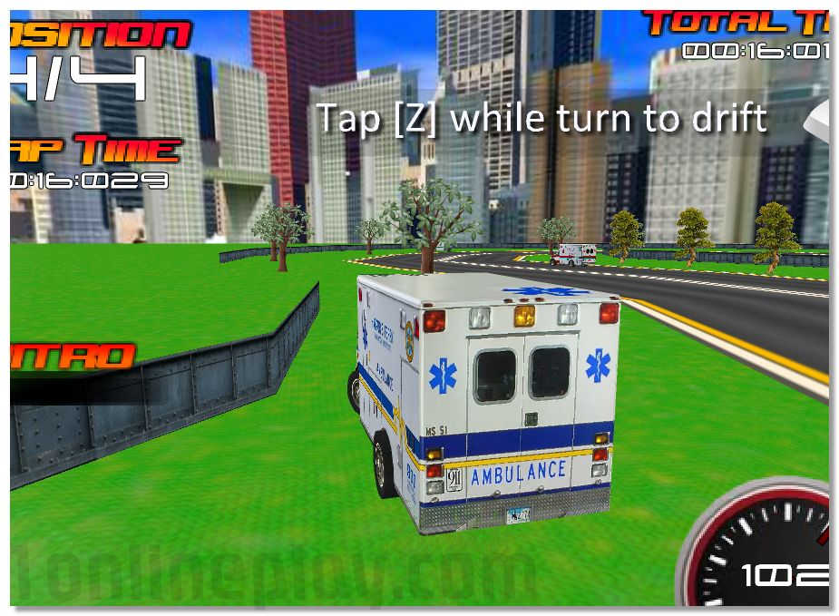3D Extreme Rescue - drive on the ambulance car through the City image play free