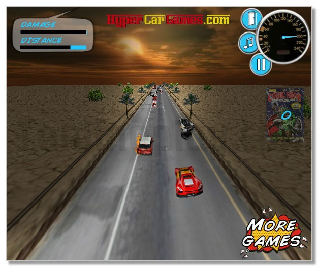 3D SuperHero Racer racing game image play free