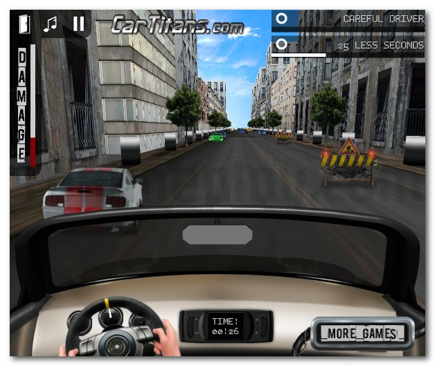 3D Test Drive drive sport car through the city image play free
