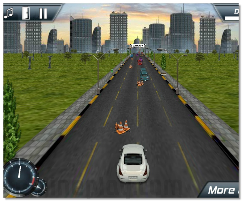 3D urban madness racing game drive you car on the city streets image play free