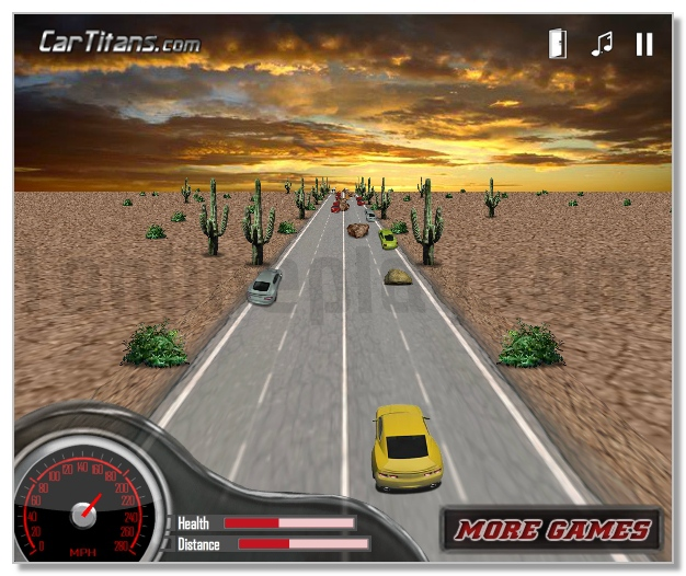 3D Muscle Car race image play free