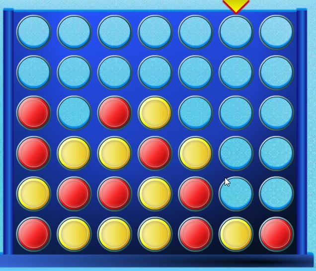 Connect 4 Four-in-a-Row logical game online puzzle image play free