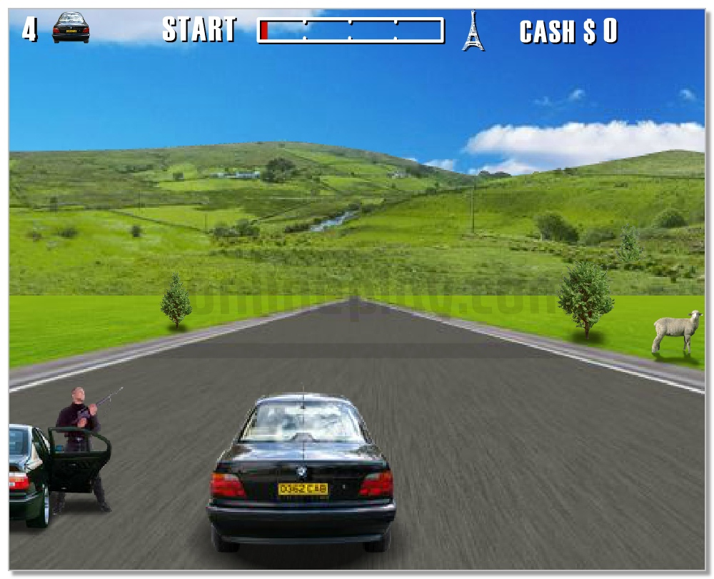 Action Driving Game aggressive racing game image play free
