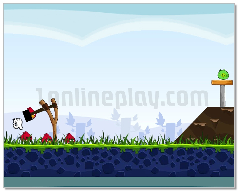 Angry Birds classic ballistic game image play free