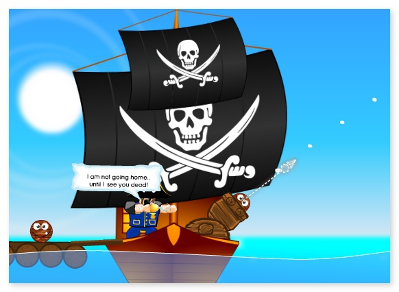 Angry Pirates ballistic game shoot your enemy image play free