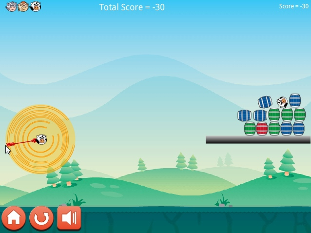 Angry Cows funny ballistic game image play free