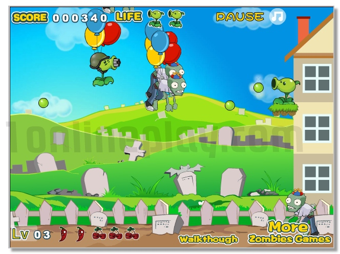 Angry Zombies vs Plants game image play free