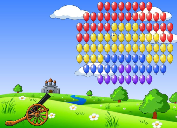 Balloons Hunter hit colored balls ballistic game image play free