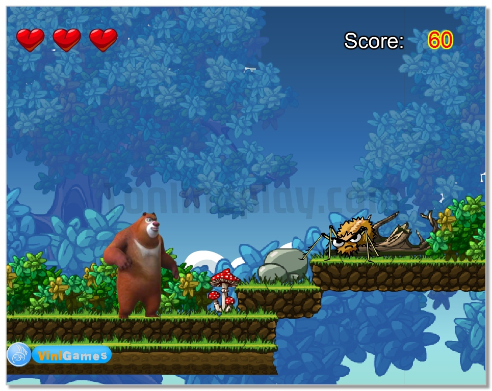 Bears Adventure arcade game in deep forest image play free