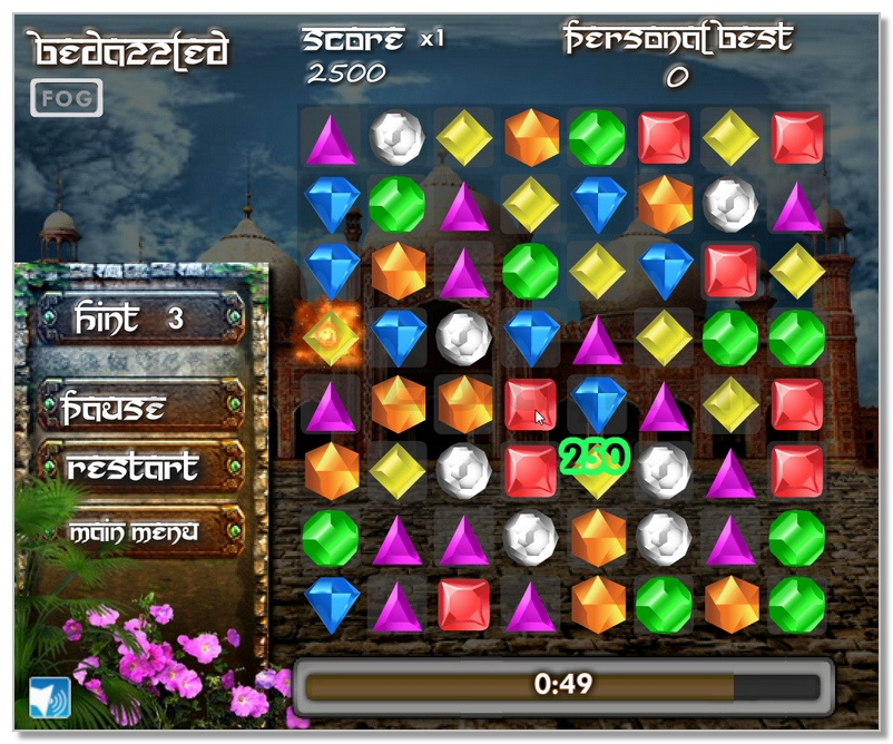 Bedazzled 3 match jewels game image play free