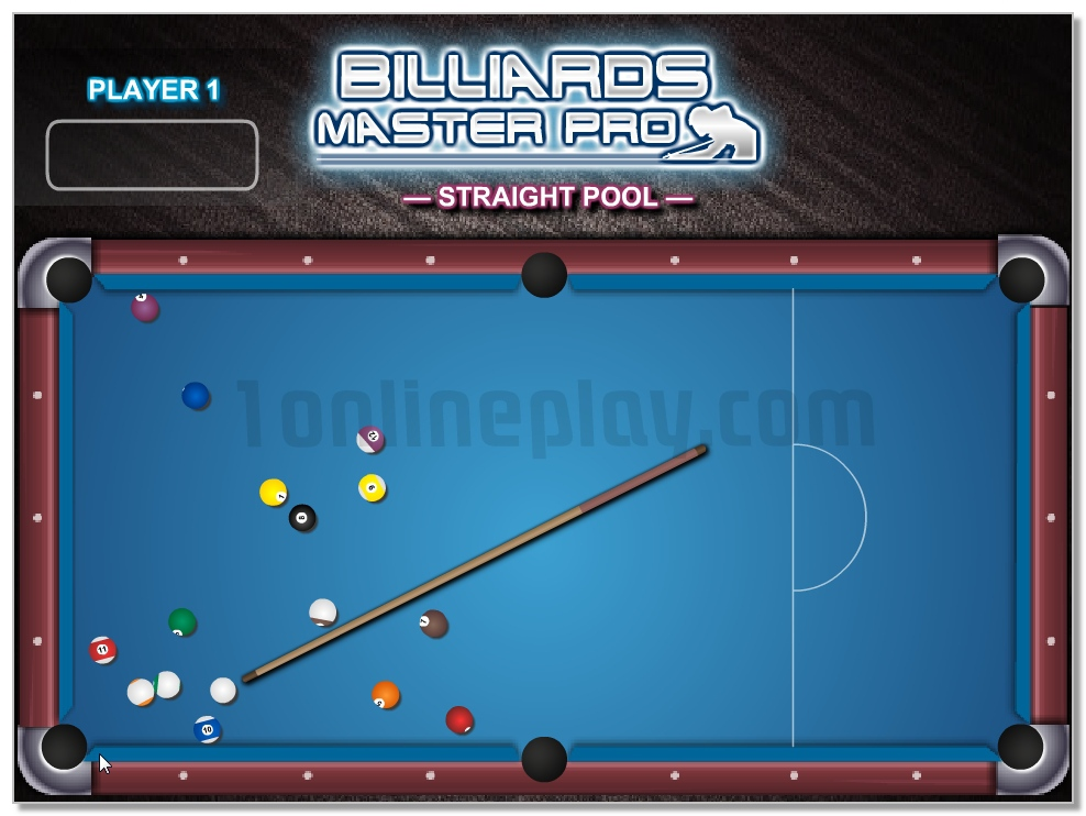 Billiards Master Pro sports game for 1 or 2 players image play free
