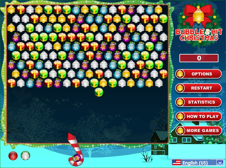Bubble Hit Christmas puzzle game for Holidays image play free