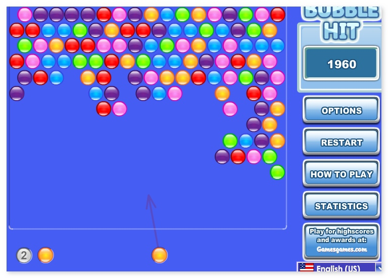 Bubble Hit 3 match color balls game puzzle image play free