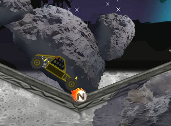 Buggy Space Race space racing on asteroid driving game image play free