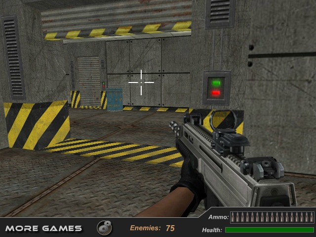 Bullet Fury shooter game First Person Shooter one soldier against all enemy image play free