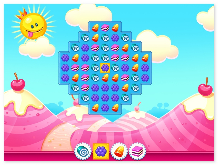 Candy Flip World candy matching HTML5 game no flash needed image play free