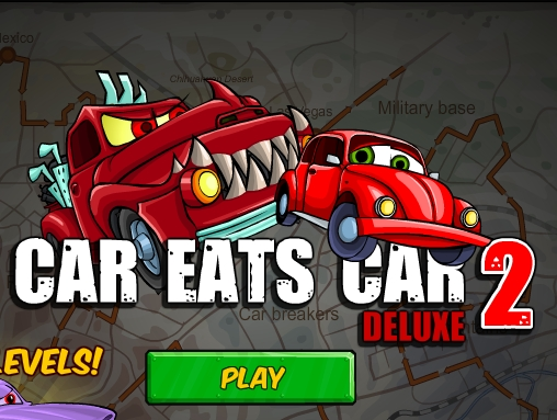 Car Eats Car 2 deluxe run drive your small car and earn some money image play free