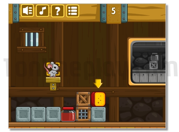 Cheese Barn logical game with pretty small mouse image play free