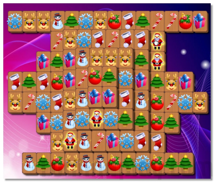 Christmas Mahjong game perfect puzzle for the holiday mood image play free