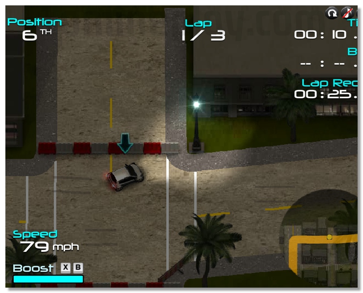 CLUB Nitro 3D online mini racing game annular races image play free