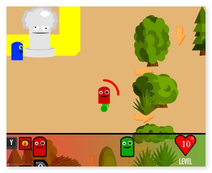 Color Warriors adventure game for two  three players image play free