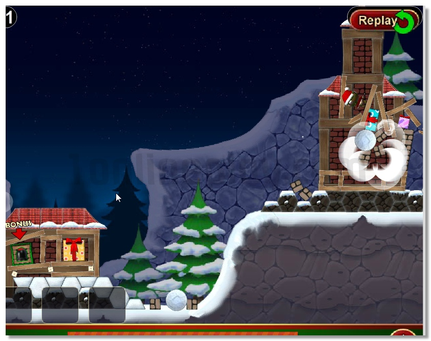Crazy Christmas ballistic like a agry birds game image play free