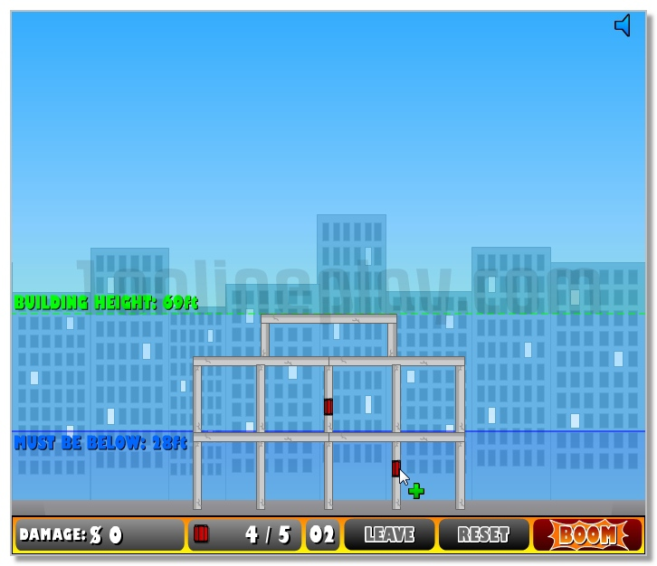 Demolition City game Destroy all old Houses in the City image play free