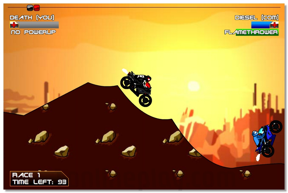 Diesel And Death moto racing game with computer opponent image play free