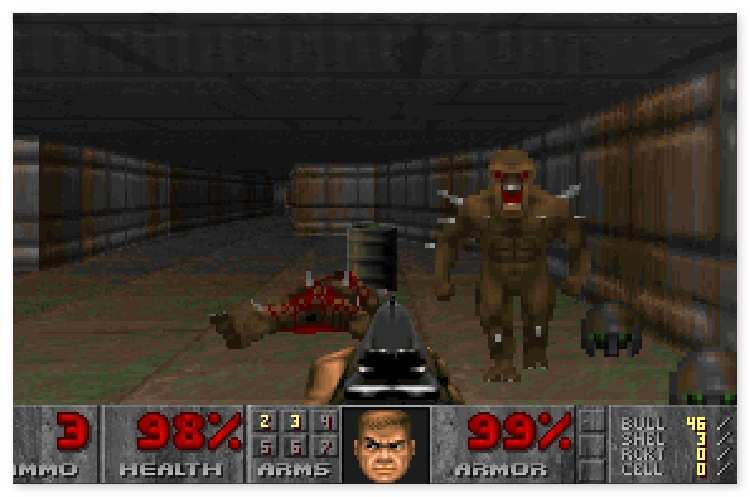 Doom 1 first person shooter retro online game image play free