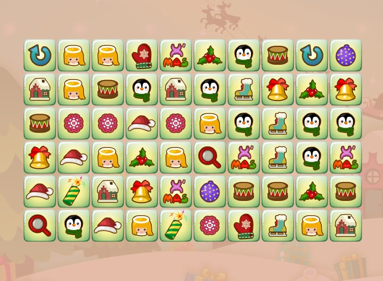 Dream Christmas Link find pair mahjong game puzzle image play free