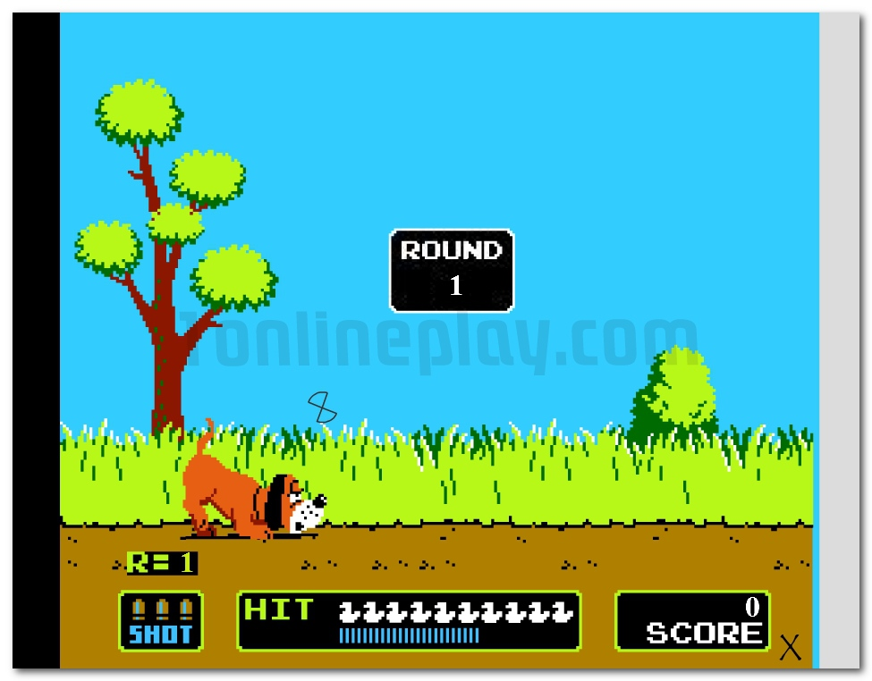 DUCK HUNT Nintendo retro game shoot the duck image play free