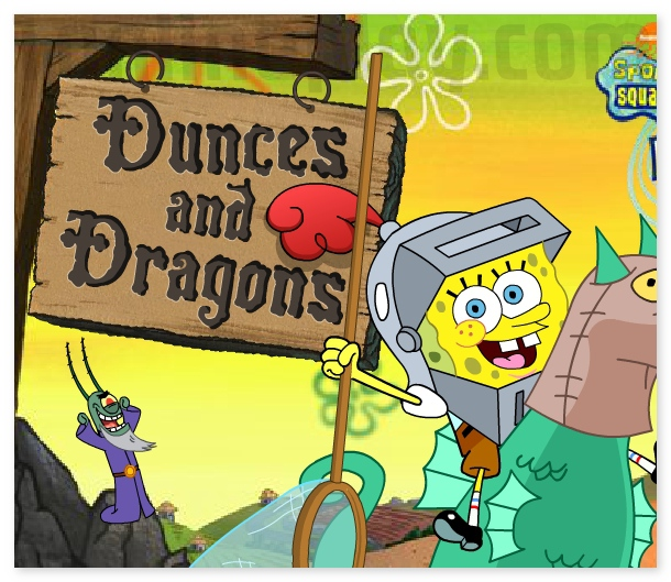Lost in time  Dunces and Dragons Sponge Bob Square Pants image play free
