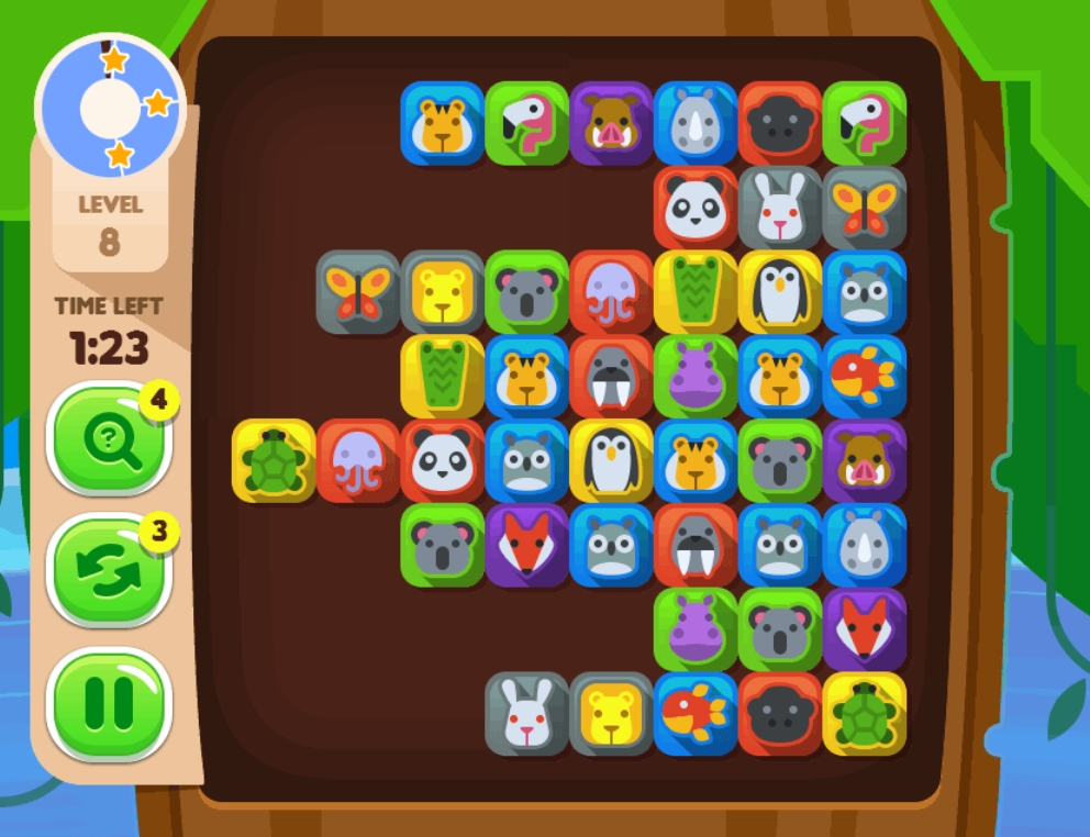 Duos Tropical Link 2 match mahjong online game to play image play free