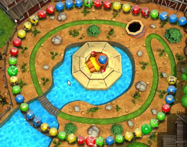 Zuma Farm Loops Blast 3 match collect colored birds image play free