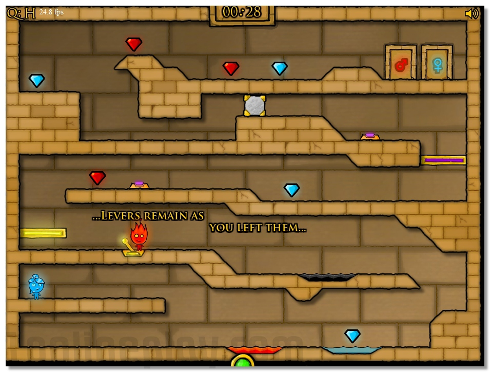 FireBoy and WaterGirl part two arcade game for 2 players image play free