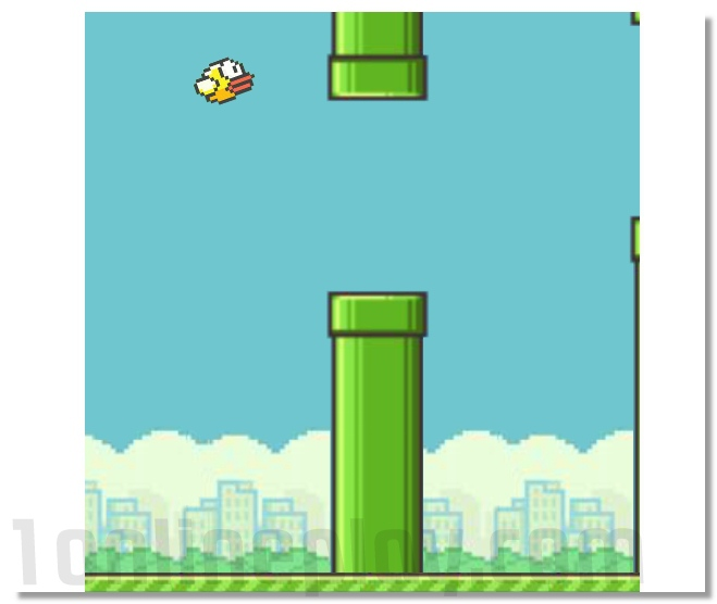 Flappy Bird based on the original app online remake image play free