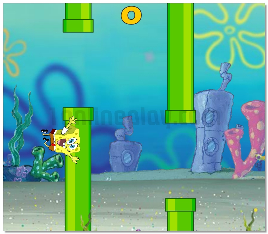 Flappy Spongebob adventure game for 1 or 2 players image play free