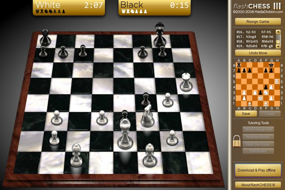 Flash Chess 3 Online sport logical strategy board game image play free