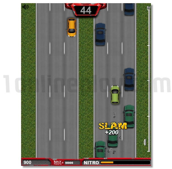Freeway Fury 2D street game GTA style jump in car theft it and ride image play free