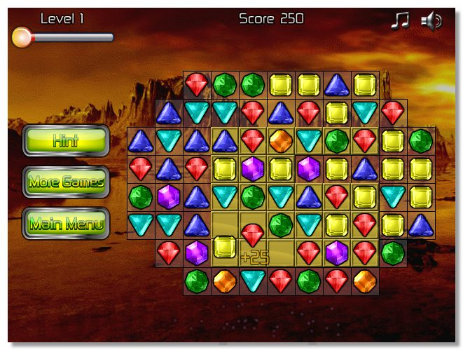 Galactic Gems 2 puzzle 3 match game space theme image play free