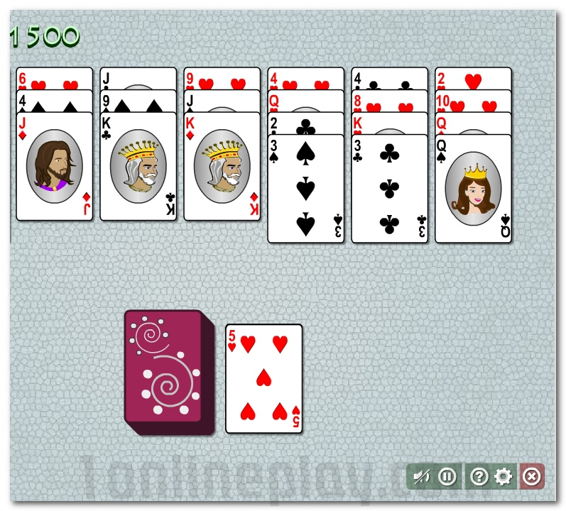solitaire card games online one card