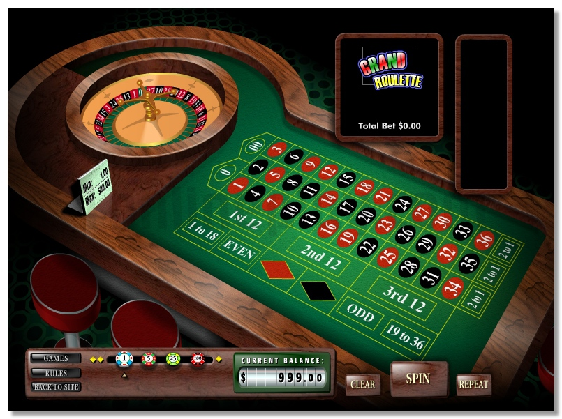 Grand Roulette virtual game for virtual money gaming image play free