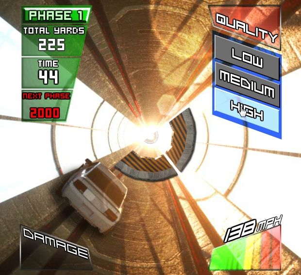 Gravity Driver racing in space in tube for real racers image play free