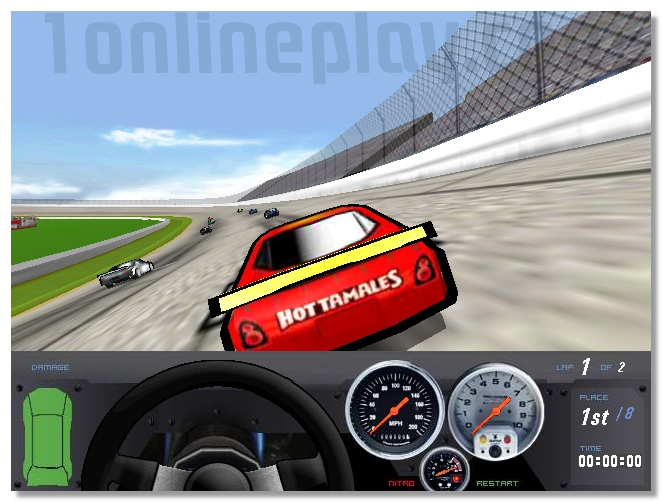 Heat wave racing nascar race drive the car lap by lap image play free
