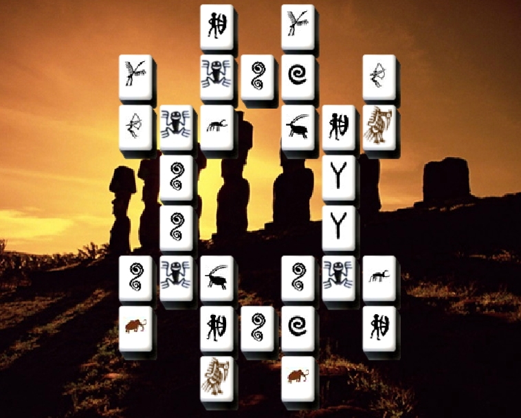 Inscrutable Sculptures Mahjong match 2 game find pair puzzle image play free
