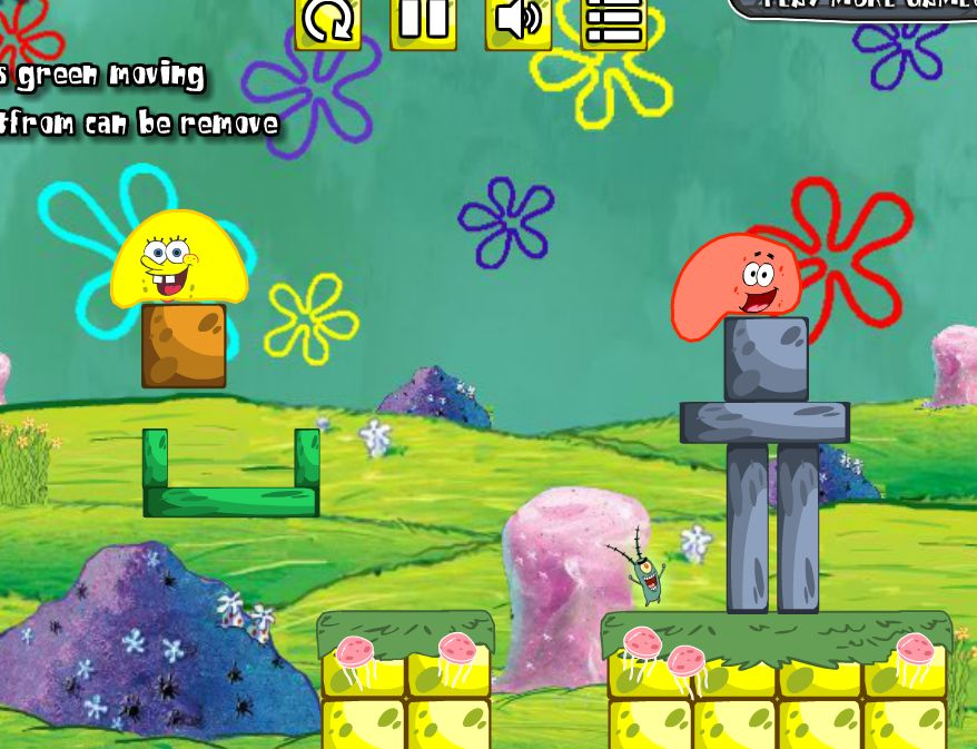 Jelly Puzzle SpongeBob quest arcade game image play free