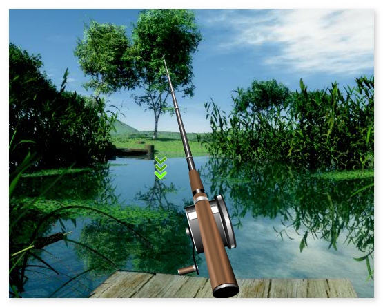 Lake fishing action game catch fish nature sounds nature for Lake fishing games